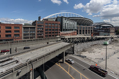 Demolition underway near stadiums (WSDOT) Tags: seattle gp construction wsdot alaskan way viaduct replacement demolition 2019