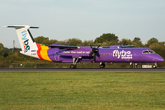 Flybe, Bombardier Dash 8 Q400, G-PRPI. (Josh Greenall Aviation Photography) Tags: manchester airport aviation plane holidays flybe bombardier
