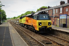 Colas Rail 70814 6C89 at Bamber Bridge (Powerhaul70Pey) Tags: colasrail 70814 6c89 mountsorrel carlisle bamberbridge freight trains locomotive railway rail railroad