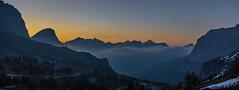 Morgendämmerung am Grödner Joch (jürgenmilnik) Tags: italien italia dolomiten dolomiti grödner joch