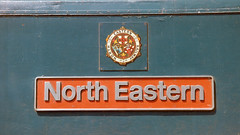North Eastern (Filton Fifty) Tags: 47401 class47 northeastern templemeads bristol 1984 nameplate