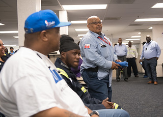 May 24, 2019 MMB Celebrated National Public Works Week with 100 Department of Public Works Employees Who Are Responsible for Keeping the District Clean