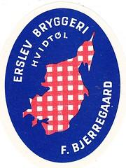 Denmark - Erslev Bryggeri (Erslev) (cigpack.at) Tags: denmark dänemark erslevbryggeri erslev bjerregaard hvidtol bier beer brauerei brewery label etikett bierflasche bieretikett flaschenetikett