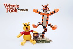 My first LEGO Ideas Project: Winnie and Tigger (BrickinNick) Tags: lego ideas winnie pooh tigger set project model build creation bear tiger hundred acre wood bouncing