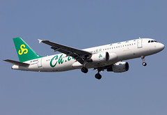 B-6645 Spring Airlines A320 (twomphotos) Tags: plane spotting zsss sha landing rwy18l afternoon spring airlines airbus a320