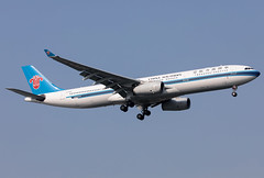 B-6500 China Southern A333 (twomphotos) Tags: plane spotting zsss sha landing rwy18l afternoon china southern airbus a333