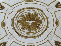 bird in the middle (squeezemonkey) Tags: sicily italy palermo oratoryoftheholyrosaryinsandomenico church interior decorative ceiling plaster bird pattern dome stucco