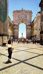 Approaching the Praça do Comércio Triumphal Arch in Lisbon (Randy Durrum) Tags: looking toward triumph arch praça do comércio durrum samsung galaxy s9 plus