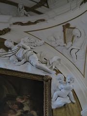frightened cherubs (squeezemonkey) Tags: sicily italy palermo oratoryoftheholyrosaryinsandomenico church interior decorative carvings statues giacomoserpotta cherubs painting oilpanting stucco plaster