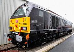 67006 @ Crewe (A J transport) Tags: class67 locomotive 67006 diesel royal sovereign crewedepot railway trains england