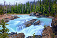 Kicking Horse River (ashockenberry) Tags: waterfall nature british columbia rocks beauty beautiful natural bridge yoho national park photography kicking horse river cascade ashley hockenberry scenic scenery travel tourism