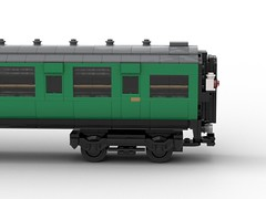 WIP 6 - Close up of bogie. (Redimus84) Tags: maunsell southern railway wip lego lnur coach