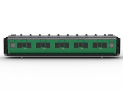 WIP 05 - Compartment side. (Redimus84) Tags: maunsell southern railway wip lego lnur coach