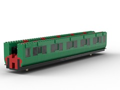 WIP 02 - Compartment side. (Redimus84) Tags: maunsell southern railway wip lego lnur coach