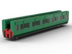 WIP 01 - Compartment side. (Redimus84) Tags: maunsell southern railway wip lego lnur coach