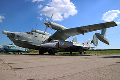 35 YELLOW Former Ukrainian Navy Beriev Be-12PL at the State Aviation Museum of Ukraine Kiev on 26 May 2019 (Zone 49 Photography) Tags: aircraft maritime patrol flying boat aeroplane may 2019 kiev kyiv ukraine boryspil international iev ukkk zhuliany state aviation museum ukrainian navy beriev be12 be12pl 35 yellow 35yellow