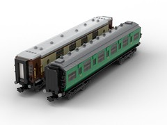 WIP - 07 Side by side comparison. (Redimus84) Tags: maunsell southern railway wip lego lnur coach