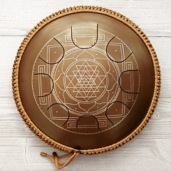 GUDA DRUM Freezbee with Sri Yantra design (GUDA DRUM) Tags: hang hangdrum handpan steeldrum steeltonguedrum tonguedrum guda gudadrum drum percussion drummer etno yoga music meditation design healing vegan fitness organic