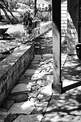 14150024e ~ Masonry Stone Work (BDC Photography) Tags: pipecreek texas usa bwfpro58mm0222xmrcyellowfilter bwfpro58mm010uvhaze1xmrcfilter blackwhite 35mmfilm texashillcountry canonef50mmf14usmlens ilford xp2 super 400 iso ilfordxp2super400isofilm canon canoneos3 bwfp
