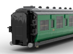 WIP 05 - End close up, steps. (Redimus84) Tags: maunsell southern railway wip lego lnur coach