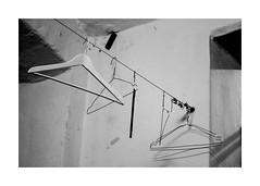 'hang up your hang ups' 1 (Armin Fuchs) Tags: arminfuchs wien hamakom warumdenngradeisler eisler music diagonal hanger kleiderbügel wolfiwolf herbiehancock