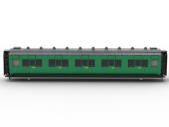 WIP 04 - Compartment side. (Redimus84) Tags: maunsell southern railway wip lego lnur coach