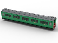 WIP 03 - Compartment side. (Redimus84) Tags: maunsell southern railway wip lego lnur coach