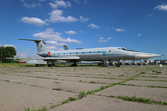 43 BLUE Former Ukrainian Air Foorce Tupolev Tu-134UBL at the State Aviation Museum of Ukraine Kiev on 26 May 2019 (Zone 49 Photography) Tags: aircraft airliner aeroplane may 2019 kiev kyiv ukraine boryspil international iev ukkk zhuliany state aviation museum ukrainian air force tupolev tu134 134 tu134ubl 43 blue 43blue