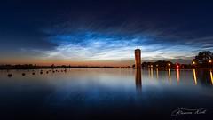 Noctilucent cloud (Ramon Kok) Tags: canon nightshot nederland thenetherlands aalsmeer nederlands noordholland watertoren noctilucentcloud canon7d nightshiningclouds canon7dmarkii westeinder plassen