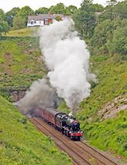 48151 Dalesman - Wilpshire 25/6/201 (John Pownall) Tags: 48151 stanier8f wilpshire dalesman