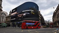 Piccadilly Circus - London (Mark Wordy) Tags: london piccadillycircus londonbus redbus doubledeckerbus electronicbillboard becauseofyou hyundai no38