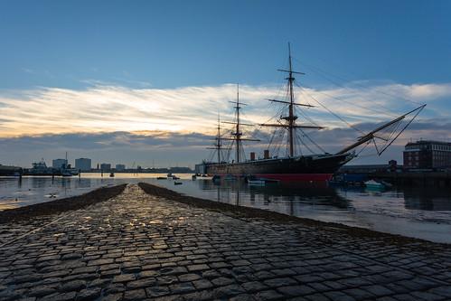 Evening Light with HMS Warrior