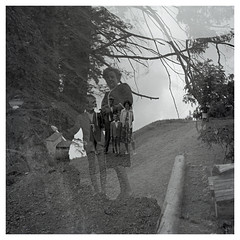 family 23 (beauty of all things) Tags: oldstuff familie family harz doubleexposure doppelbelichtung quadratisch rollfilm 6x6 negativscan landscape landschaft