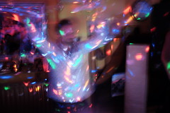 A party in New Cross (Gary Kinsman) Tags: newcross se14 london 2019 southlondon fujix100t fujifilmx100t party houseparty availablelight ambientlight night late outoffocus blur people candid unposed dj trippy psychedelic