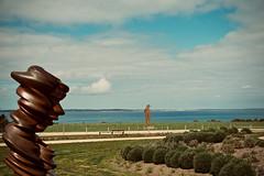 Sculptures By The Sea (NatalieTracy) Tags: australia victoria morningtonpeninsula sculpturepark ptleo ptleoestate sculpture gardensculpture vineyard ocean sea sky garden park art artinstallation bronze tonycragg