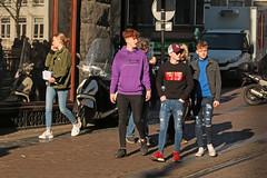 Leidsestraat - Amsterdam (Netherlands) (Meteorry) Tags: europe nederland netherlands holland paysbas noordholland amsterdam amsterdampeople candid streetscene people centrum center centre leidsestraat guys male boys hommes sneakers baskets skets converse allstars adidas nike teens twinks jeans cute february 2019 meteorry