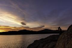 Sunset w/ Photographer (MJ:Architect) Tags: sunset wichitamountainswildliferefuge quanahparkerlake
