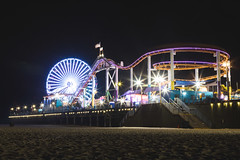 Santa Monica (Strangelove 1981) Tags: 2019 america california losangeles santamonica usa westcoast holiday beach funfair bigwheel ferriswheel rollercoaster carnival pier night photography nighttime longexposure slowshutterspeed nightphotography
