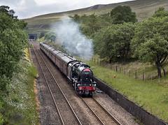 The southbound 'Dalesman', Blea Moor, Settle-Carlisle railway, 25/6/19 (John / Arc-Images) Tags: stanier 8f dalesman 48151 blea moor settle carlisle