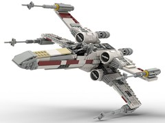 T-65 Incom X-Wing Starfighter 1s=f Red Five