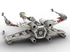T-65 Incom X-Wing Starfighter 1s=f Red Five: Back (picardsbricks) Tags: lego starwars lukeskywalker anewhope xwing t65 r2d2 yavin4