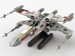 T-65 Incom X-Wing Starfighter 1s=f Red Five: Stand (picardsbricks) Tags: lego starwars lukeskywalker anewhope xwing t65 r2d2 yavin4