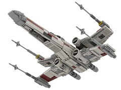 T-65 Incom X-Wing Starfighter 1s=f Red Five: Belly (picardsbricks) Tags: lego starwars lukeskywalker anewhope xwing t65 r2d2 yavin4