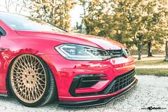 Volkswagen MK7 Golf R - M540 - Matte Race Gold (AvantGardeWheels) Tags: agwheels ag avant garde wheels m540 matte race gold spanish custom concave monoblock cast mesh bespoke rims stance bagged volkswagen vw vdub mk7 golf r gti nature photography automotive car