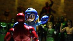 Megaman vs Iron Man (RandomWatts) Tags: action figure photography fight club toy artistry video game marvel comics capcom megaman iron man ironman