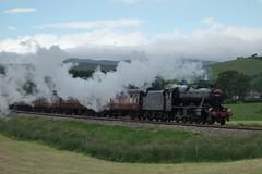 Hellifield Departure (Callum Nicolson) Tags: lms 8f 48151 wcrc wrc west coast railways railway company dalesman carlisle chester 1z56 hellifield green