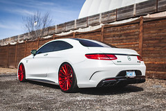 Mercedes-Benz S63 AMG - M615 - Brushed Candy Red (AvantGardeWheels) Tags: agwheels ag avant garde wheels m615 custom concave flow form monoblock rotary forged bespoke rims stance german euro mercedes mercedesbenz s63 amg coupe photography automotive nature street