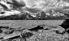 Lake Jenny (Ry Meehan) Tags: bw blackandwhite monochrome mountains clouds landscape nationalpark grandtetonnationalpark texture tone wyoming usa