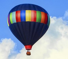 Float Over! (☼☼ Jo Zimny Photos☼☼) Tags: odc saturatedcolour hotairballoon colourful black green red blue yellow orange sky clouds drybyfloating jozimny floatover
