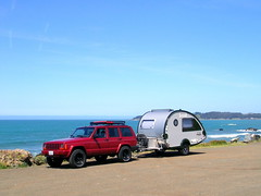 We're off again! (onefastbiker) Tags: jeep tb trailer pacificcoast hwy 1